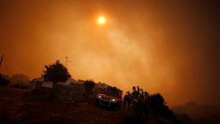 Σκοτείνιασαν παραλίες από τον καπνό της τεράστιας πυρκαγιάς στην Πορτογαλία