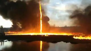 Θεαματικό βίντεο: Τεράστιος στρόβιλος φωτιάς καταγράφηκε στην Αγγλία