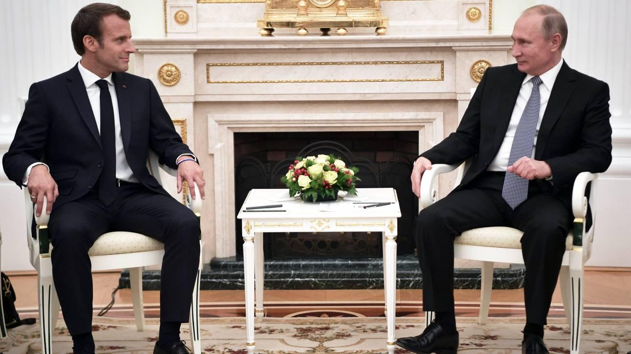 Επικοινωνία Πούτιν - Μακρόν για το θέμα της Συρίας