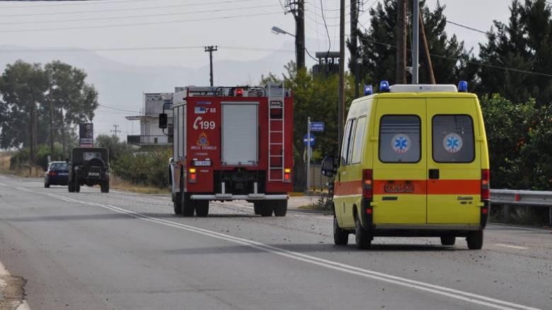 Ανατροπή νταλίκας στην Εθνική Οδό Θεσσαλονίκης-Σερρών, νεκρός ο οδηγός