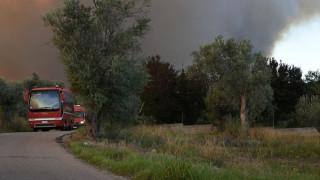 Εύβοια: Σε εξέλιξη η φωτιά με διάσπαρτες εστίες