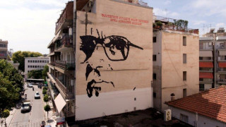 Η Λάρισα αγαπά τον Ένιο Μορικόνε και τον τιμά με μία πελώρια τοιχογραφία