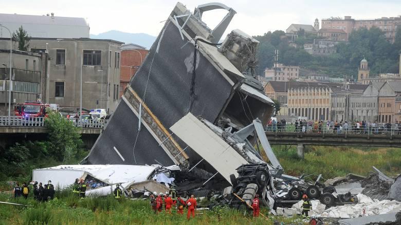 Τραγωδία στη Γένοβα: Κανένας Έλληνας πολίτης μεταξύ των θυμάτων