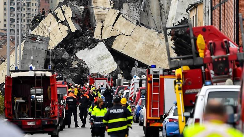 Τραγωδία στη Γένοβα: Δεκάδες νεκροί, χάος και ερωτηματικά