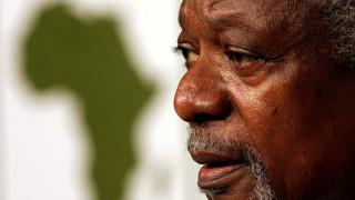 Η παγκόσμια πολιτική σκηνή «αποχαιρετά» τον Κόφι Ανάν