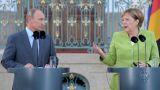 «Καλή θέληση» για την επίλυση των διενέξεων εξέφρασαν Μέρκελ - Πούτιν