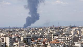 Πυρκαγιά σε αύλειο χώρο εταιρείας ανακύκλωσης στη Σίνδο