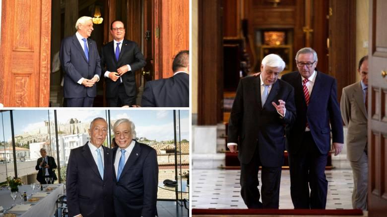 «Ευχαριστώ» Παυλόπουλου σε Γιούνκερ, Ολάντ, ευχές από τον Πορτογάλο πρόεδρο