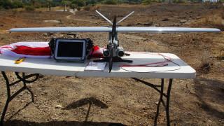 Drone της πυροσβεστικής πάνω από την Αμαλιάδα