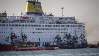 Συνεχίζεται η κατάσβεση της φωτιάς στο «Ελ. Βενιζέλος» - Τι αναφέρει η πλοιοκτήτρια εταιρία