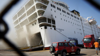 «Ελευθέριος Βενιζέλος»:Συνεχίζεται η «μάχη» με τις φλόγες στο πλοίο που έχει πάρει κλίση