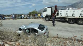 Τραυματίες σε σύγκρουση νταλίκας με δύο Ι.Χ. στην εθνική Θεσσαλονίκης – Αθήνας