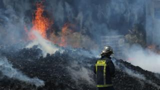 Φωτιά σε εργοστάσιο στη Βιομηχανική Περιοχή Κομοτηνής