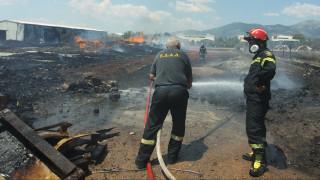 Κατασβέστηκε η φωτιά στο εργοστάσιο στην Κομοτηνή