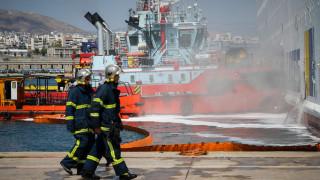 Μικρές εστίες φωτιάς στο πλοίο Ελ. Βενιζέλος