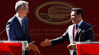 Στόλτενμπεργκ από Σκόπια: Η πόρτα του ΝΑΤΟ είναι ανοιχτή αν κυρωθεί η συμφωνία των Πρεσπών