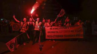 Συγκέντρωση και πορεία διαμαρτυρίας ένστολων στο κέντρο της Θεσσαλονίκης