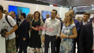 ΔΕΘ 2018: Παππάς - Ξενογιαννακοπούλου εγκαινίασαν το κοινό περίπτερο των υπουργείων τους