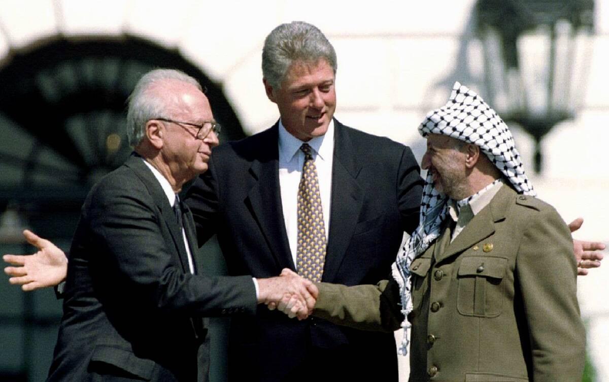 Arafat Rabin Clinton 1993