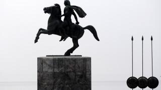 Βανδάλισαν το άγαλμα του Μ. Αλεξάνδρου στη Θεσσαλονίκη