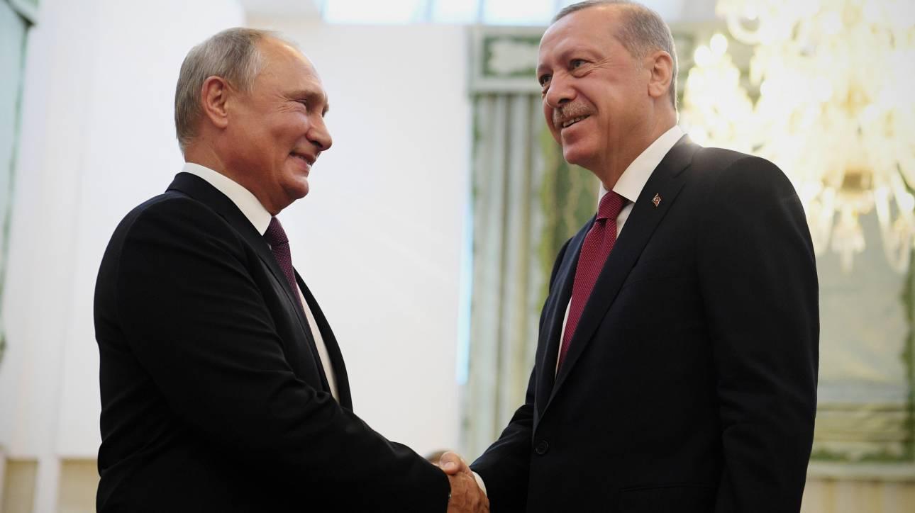 Συνάντηση Πούτιν-Ερντογάν τη Δευτέρα στη Ρωσία