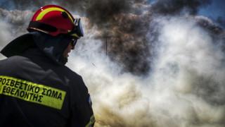 Φωτιά στην περιοχή Μακρύς Γυαλός στην Ιεράπετρα