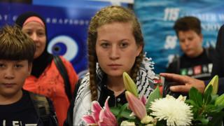Στην Αθήνα η Παλαιστίνια αγωνίστρια Αχέντ Ταμίμι για το φεστιβάλ της ΚΝΕ (pics)