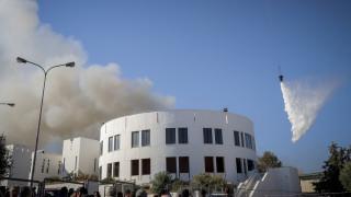Μετρήσεις για ατμοσφαιρική ρύπανση από τη φωτιά στο Πανεπιστήμιο Κρήτης