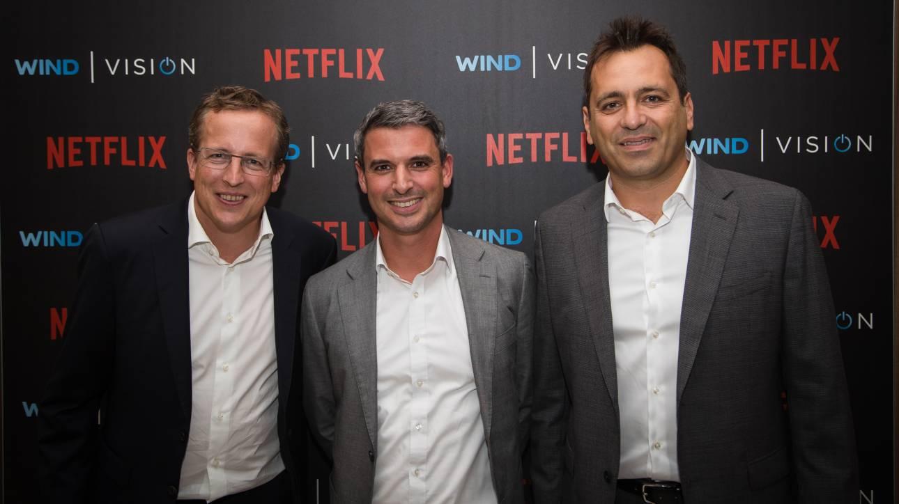 Διευρύνεται η συνεργασία της Wind με το Netflix