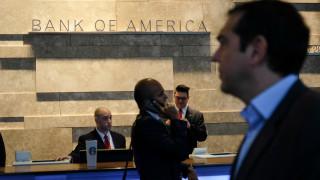 «Μπαράζ» συναντήσεων Τσίπρα με στελέχη των Bank of America, Merrill Lynch και Morgan Stanley