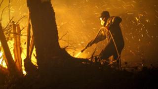 Κεφαλονιά: Μεγάλη φωτιά στην περιοχή Ζόλα