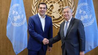 Προσφυγικό, πΓΔΜ και Κυπριακό στο επίκεντρο της συνάντησης Τσίπρα-Γκουτέρες
