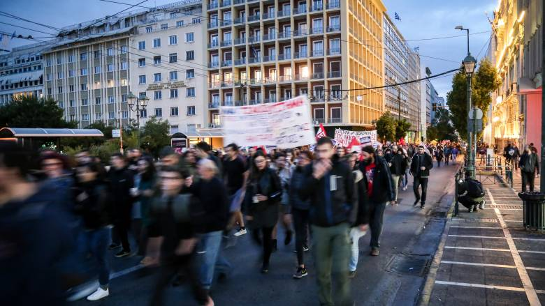Πορεία διαμαρτυρίας στο κέντρο για το θάνατο του Ζακ Κωστόπουλου