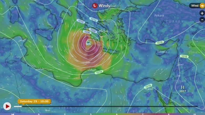 Κυκλώνας Ζορμπάς: Δείτε live την πορεία του