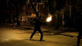 Μολότοφ και ένταση στη Θεσσαλονίκη τα ξημερώματα