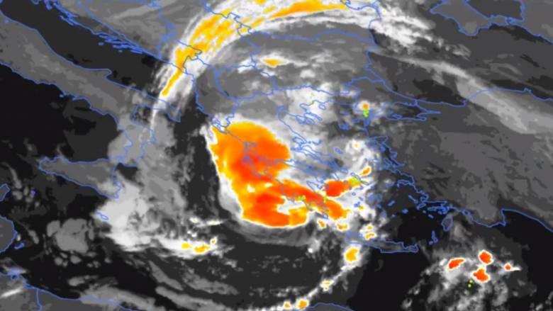 Κυκλώνας Ζορμπάς: Η πορεία του κυκλώνα από το... διάστημα