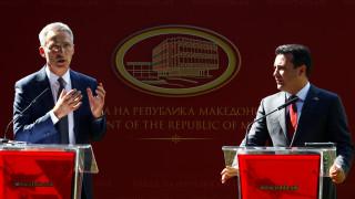 Στόλτενμπεργκ: Μονόδρομος για την ένταξη της πΓΔΜ η πλήρης εφαρμογή της συμφωνίας