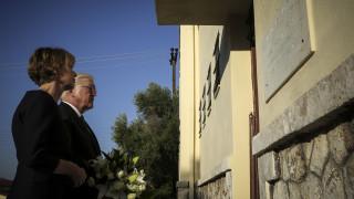 Συμβολική επίσκεψη Στάινμαϊερ στο στρατόπεδο του Χαϊδαρίου