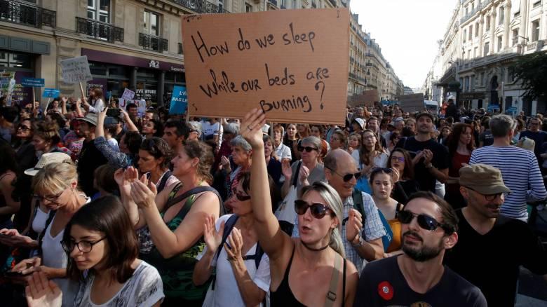 «Υπάρχει ακόμη χρόνος»: Διαδηλώσεις στη Γαλλία για την υπερθέρμανση του πλανήτη