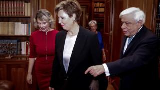 Συνάντηση Παυλόπουλου με Γεροβασίλη και Παπακώστα στο Προεδρικό Μέγαρο