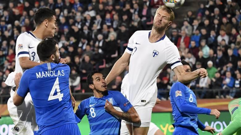 Φινλανδία-Ελλάδα 2-0: «Ναυάγιο» στο Τάμπερε