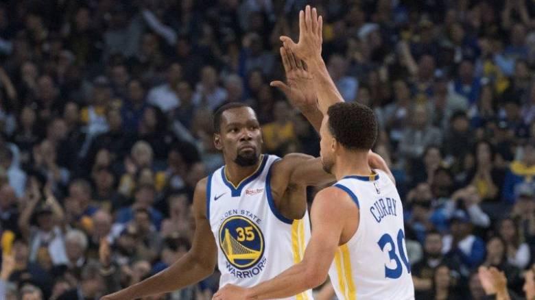 NBA: Εκπληκτικό το δίδυμο Κάρι - Ντουράντ στον αγώνα με τους Θάντερ