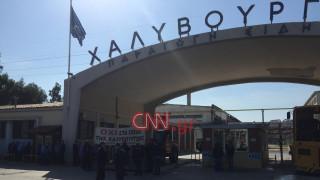 Διαμαρτυρία εργαζομένων στη Χαλυβουργική: Απέκλεισαν την Αθηνών – Κορίνθου (pics)