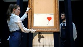 Shred the Love: Νέο αποκαλυπτικό βίντεο του Banksy για την καταστροφή του πίνακά του