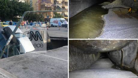 Ιλισός: Καρέ-καρέ οι επικίνδυνες διαβρώσεις στην υπόγεια κοίτη του ποταμού