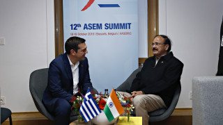 Συνάντηση Τσίπρα με τους αντιπροέδρους Ινδίας και Ινδονησίας
