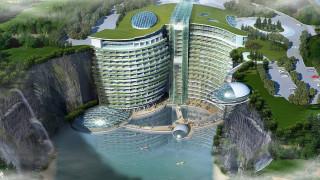 Θέα στον κάτω κόσμο: εγκαίνια για το λατομείο & ξενοδοχείο ανάποδης πολυτέλειας στην Κίνα
