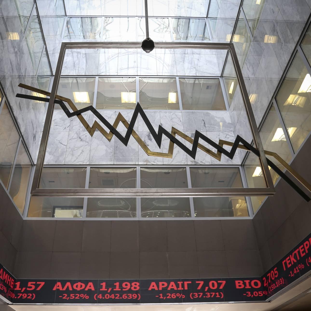 Χρηματιστήριο: Πτωτικά κινήθηκαν σήμερα οι τιμές των μετοχών
