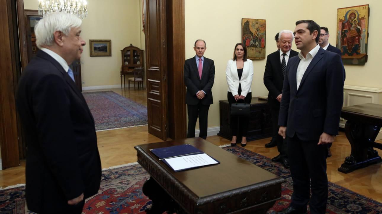 Ορκίστηκε υπουργός Εξωτερικών ο Αλέξης Τσίπρας