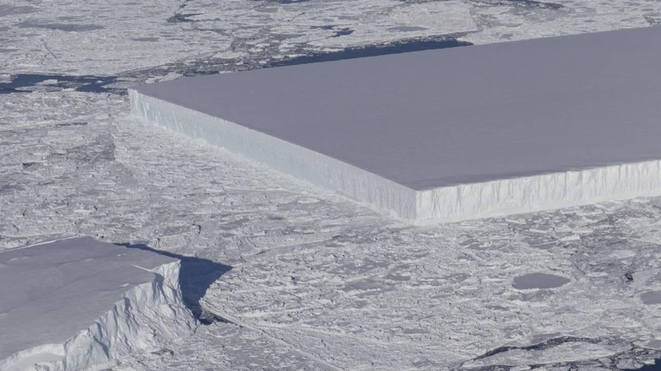 Εντυπωσιακή φωτογραφία: Ένα ασυνήθιστο παγόβουνο απαθανάτισε η NASA